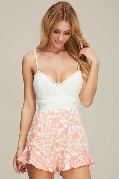 """CHLOE"" RUFFLED BOTTOM ROMPER"