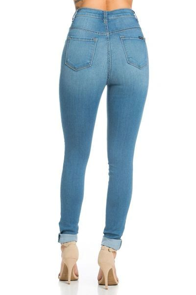"""IN YOUR DREAMS"" HIGH WAISTED SKINNY JEANS"
