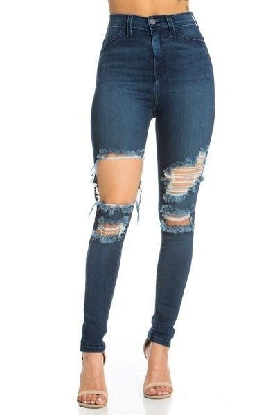 """NEW GIRL"" HIGH WAISTED SKINNY JEANS"