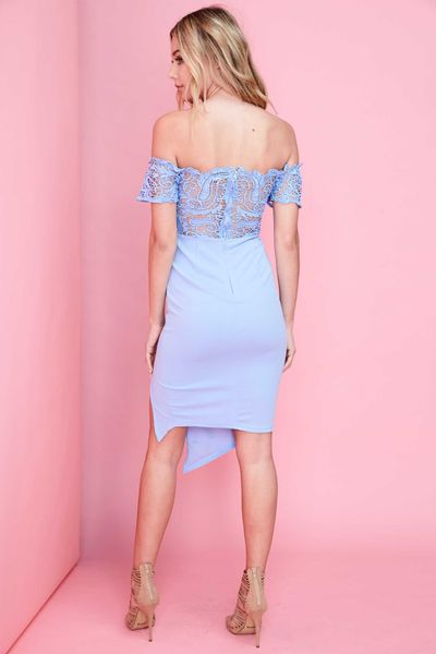 """SOPHIA"" OFF THE SHOULDER LACE DRESS"