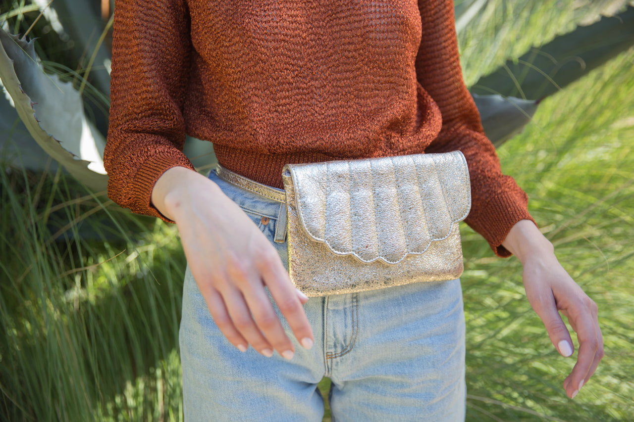 Shell Fanny Pack | GOLD