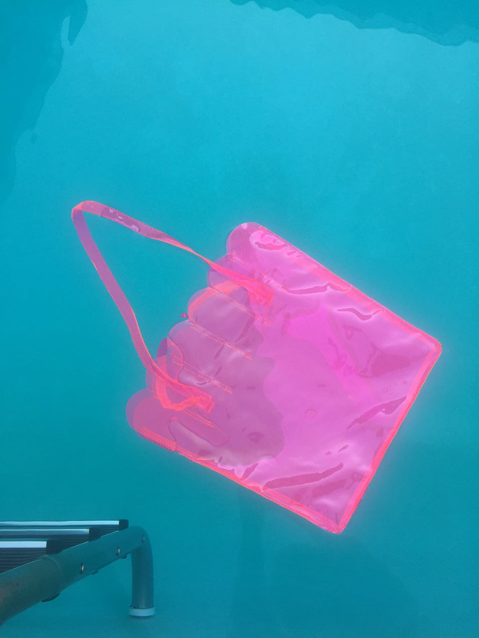 Shell Tote-FLUORESCENT PINK
