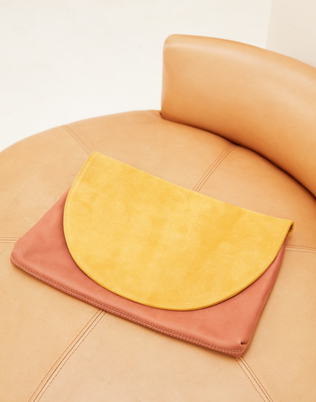 Jenna Large Clutch ~ Sun | Terracotta