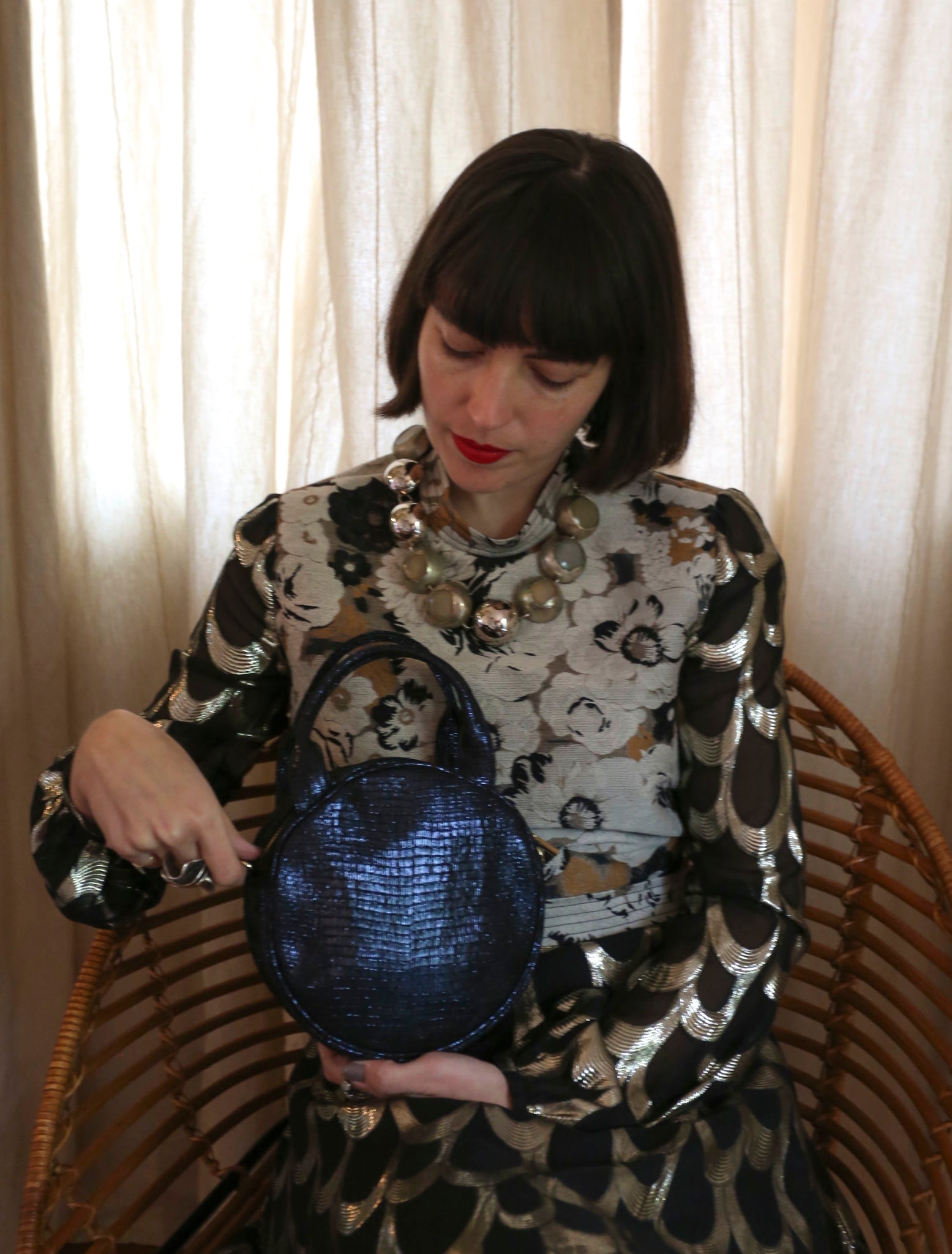 Mini Lisa Circle Bag ~ Night Sky