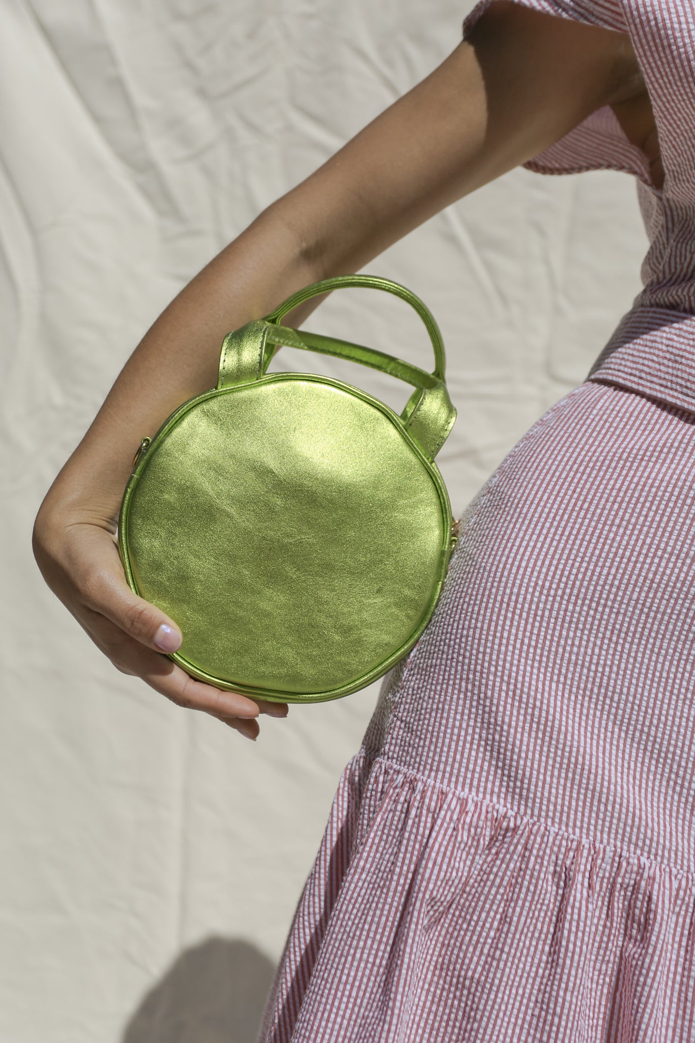 Mini Lisa Circle Bag ~ Lime Metallic
