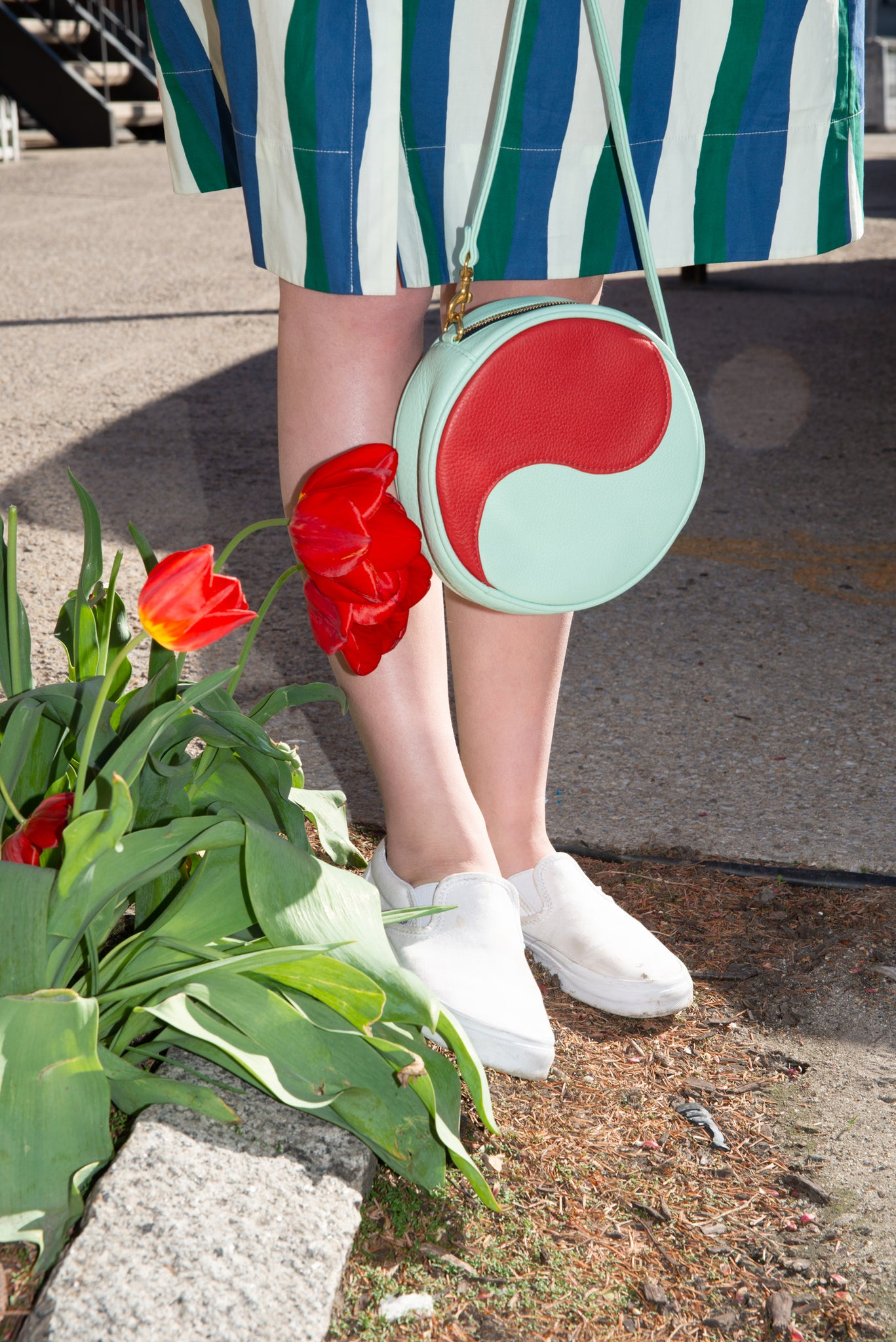The Yin Yang Bag ~ Mint and Tomato