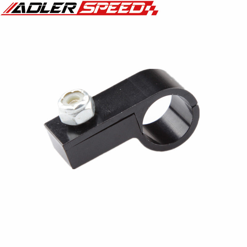 4AN AN4 AN-4 To 6mm Barb Straight Fitting Fuel Line Black