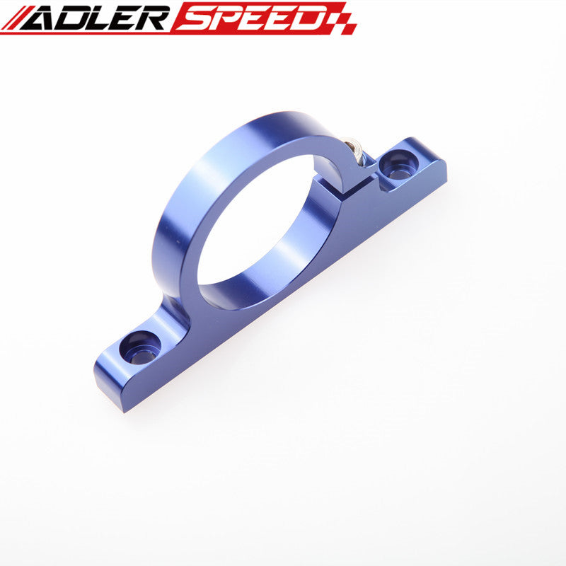 Billet Aluminum Fuel Pump Bracket Filter Clamp Cradle Bosch 044 Blue
