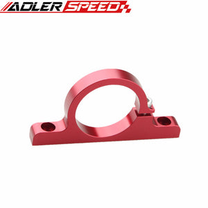 Fuel Pump Bracket Clamp Cradle Anodised Single Billet With 2 Inserts Red
