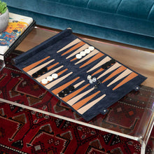 Load image into Gallery viewer, Suede Travel Backgammon