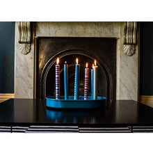 Load image into Gallery viewer, Oval Metal Candle Platter - Petrol