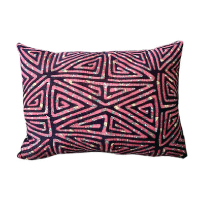 Faded Maze Pillow