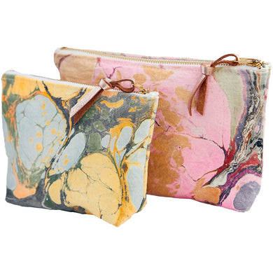 Marbled Canvas Pouch