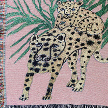 Load image into Gallery viewer, Pink Cheetahs Blanket