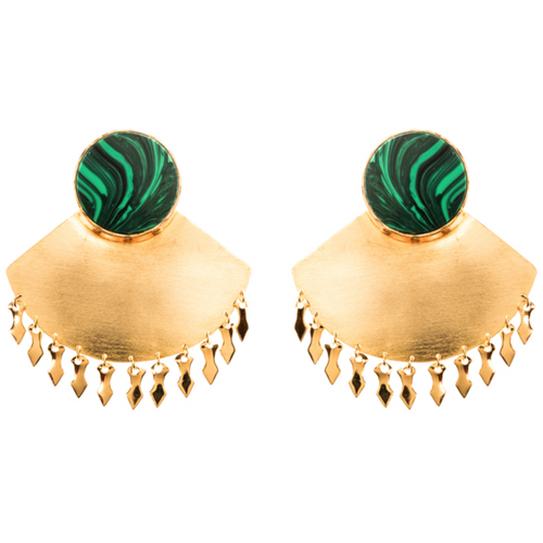 EK Earrings - Malachite