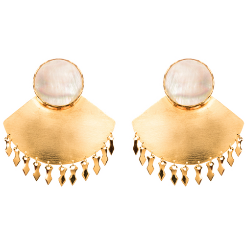EK Earrings - Mother of pearl
