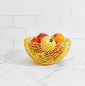 Mesh Wire Bowl - Yellow