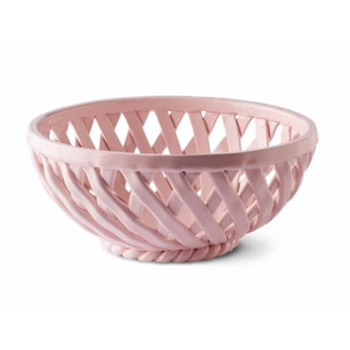 Sicilia Ceramic Basket Large - Pink