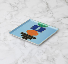 Load image into Gallery viewer, Templo Blue Ceramic Tray