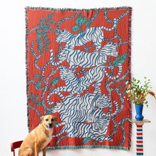 Load image into Gallery viewer, Red Tigers Blanket