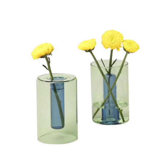 Small Reversible Glass Vase