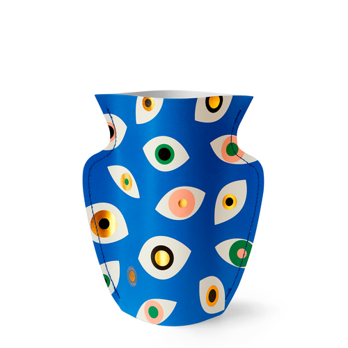 Mini Paper Vase - Blue Nazar
