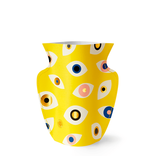 Mini Paper Vase - Yellow Nazar