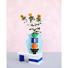 Load image into Gallery viewer, Templo Blue Mini Paper Vase