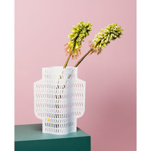 Load image into Gallery viewer, Coral Perforated Paper Vase