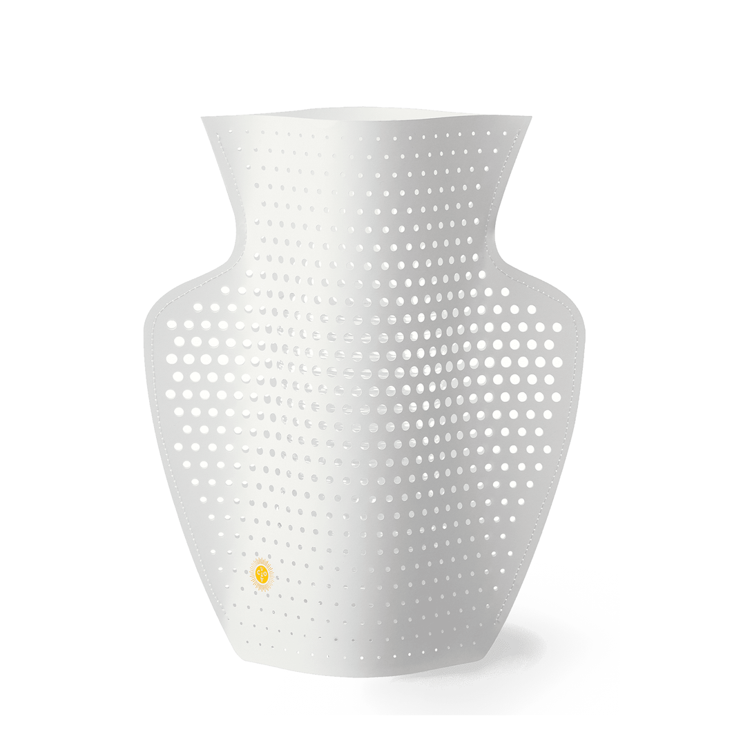 Cyano Perforated Paper Vase
