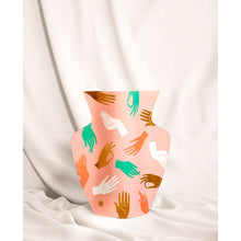 Load image into Gallery viewer, Hamsa Pink Paper Vase