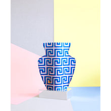 Load image into Gallery viewer, Icarus Blue Paper Vase