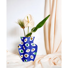 Load image into Gallery viewer, Nazar Blue Paper Vase