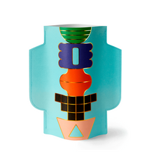 Load image into Gallery viewer, Templo Blue Paper Vase