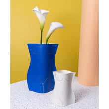 Load image into Gallery viewer, Venus Blue Paper Vase