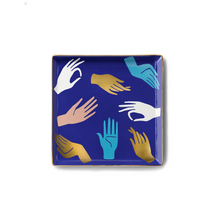 Load image into Gallery viewer, Hamsa Blue Ceramic Tray