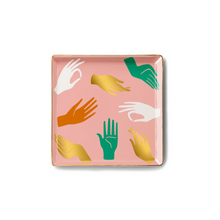 Load image into Gallery viewer, Hamsa Pink Ceramic Tray