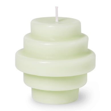 Green Templo Sculptural Candle