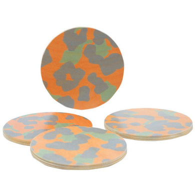 Cheetah Peach Coaster Set