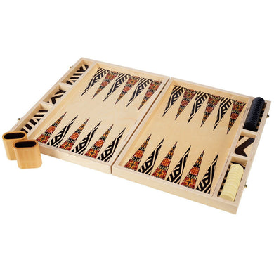 Alexander Black Tabletop Backgammon Set