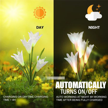 toolcome Lily Solar LED Garden Lights Outdoor Waterproof Lily Flower 7 Colours
