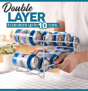 Double Layer Can Rack