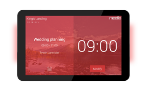 Meetio Room software - red