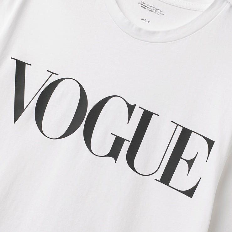 Official Vogue T-Shirt White Detail