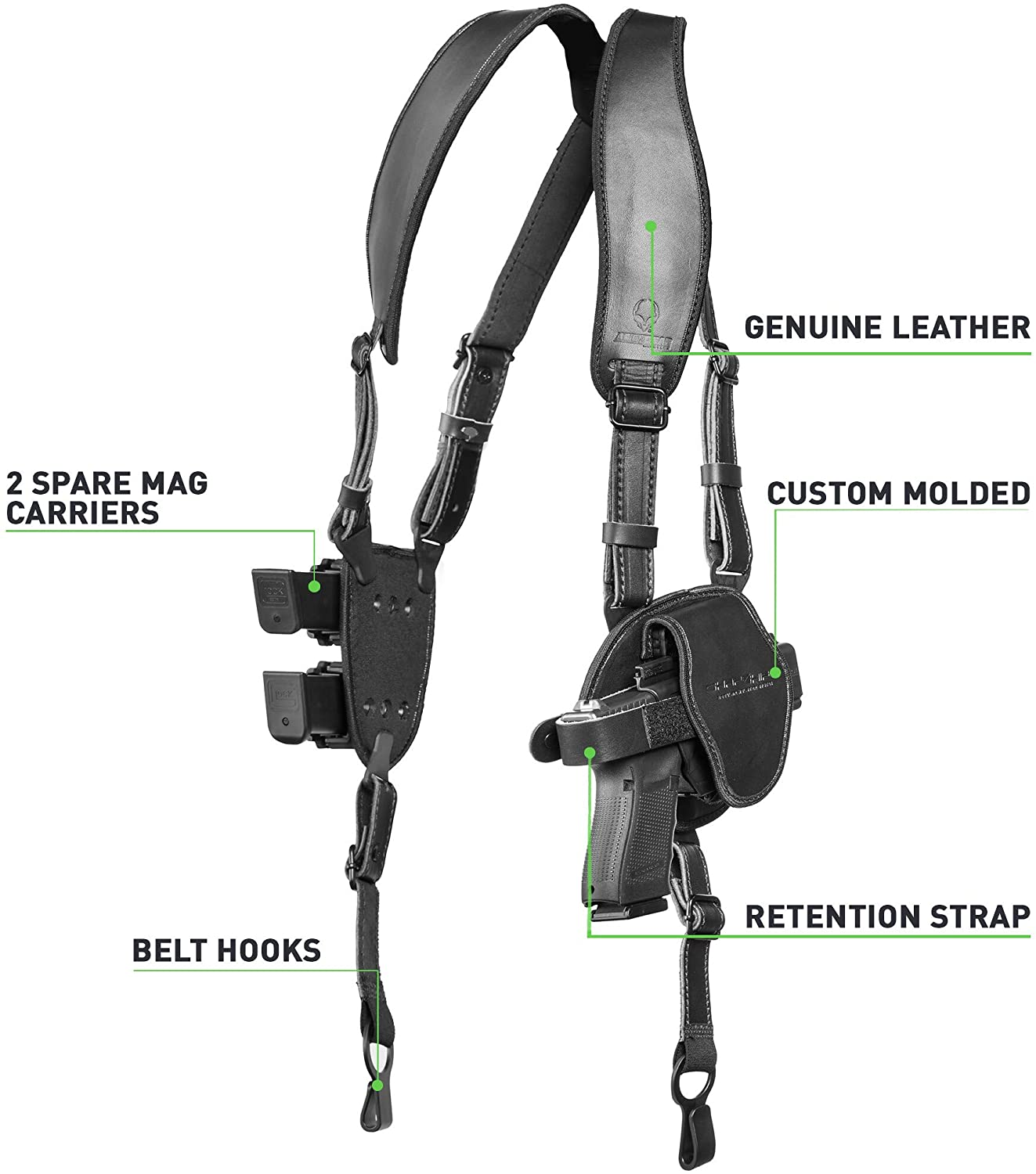 🔥Buy 2 Save $5🔥 Deluxe Shoulder Holster for Open or Concealed Carry –  GLOBEPEACH