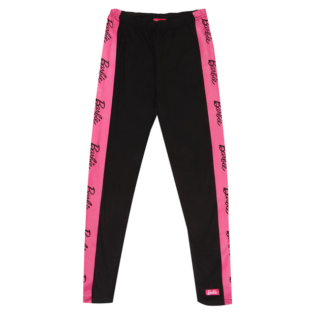 Barbie Text Logo Girls Leggings | Official Merchandise Front Image by Popgear