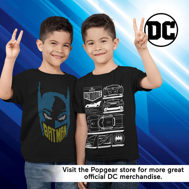 DC Comics Batman Batmobile Diagram Boys T-Shirt - Popgear