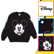 Disney Mickey Smiley Face Boys Crewneck Sweatshirt | Official Merchandise Back Image by Popgear