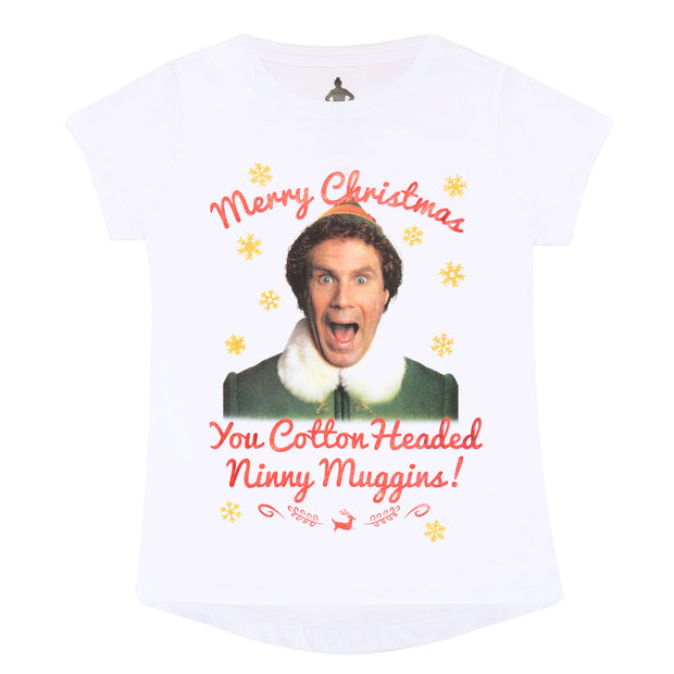 Elf Cotton Headed Ninny Muggins Girls T-Shirt - Popgear