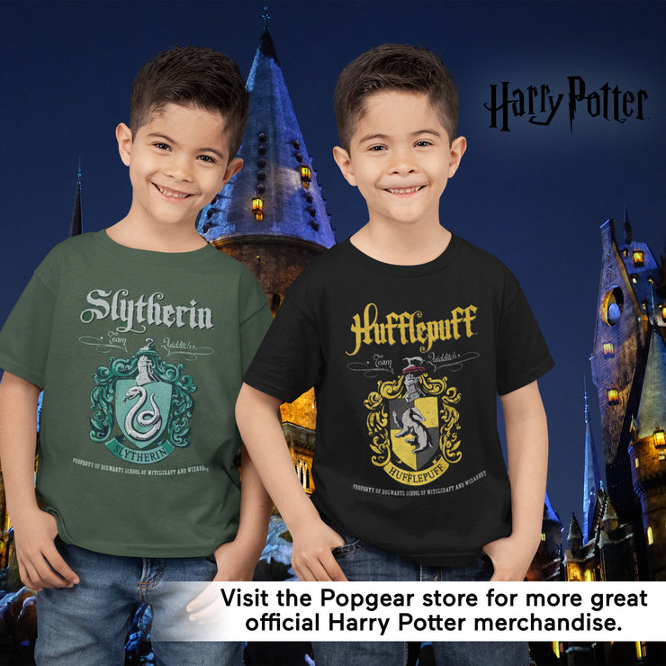 Harry Potter Hufflepuff Crest Boys T-Shirt - Popgear